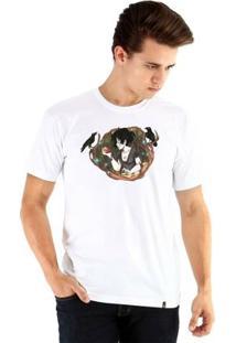 Camiseta Ouroboros Manga Curta Branca De Neve - Masculino-Branco
