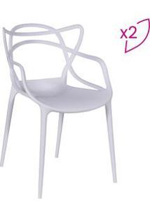 Or Design Jogo De Cadeiras De Jantar Solna Branco 2Pã§S