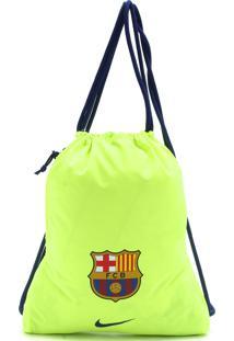Mochila Nike Gymsack Stadium Barcelona Amarelo