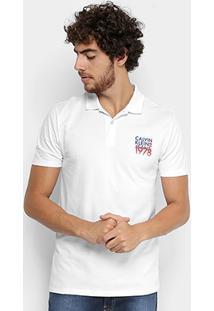 Camisa Polo Calvin Klein Piquet Estampada Masculina - Masculino