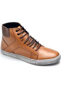 Sapatênis Top Franca Shoes Casual Masculino - Masculino-Caramelo