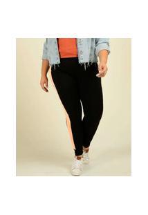 Calça Plus Size Legging Feminina Canelado