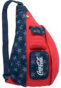 Bolsa Coca-Cola American Flag - Unissex-Vermelho