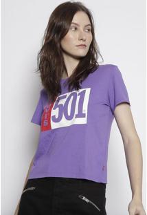 """Camiseta """"Levi'S 501"""" - Roxa & Brancalevis"""