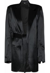 Dodo Bar Or Blazer Coco Com Amarração Na Cintura - Preto