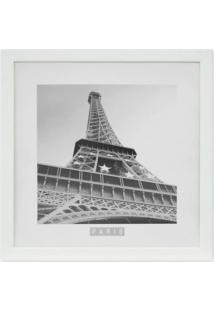 Quadro Torre Eiffel Kapos Branco 33X33Cm
