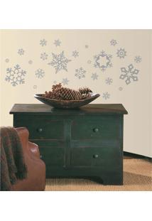 Adesivos De Parade Roommates Colorido Glitter Snowflakes Peel & Stick Wall Decals