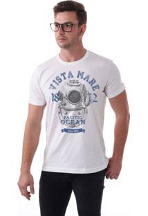 Camiseta Vista Mare Pacific Ocean Slim Fit Branca