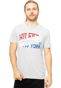 Camiseta Manga Curta Tommy Hilfiger Estampada Cinza