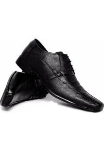 Sapato Social Topflex 901 Com Cadarço Masculino - Masculino-Preto
