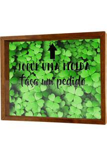 Quadro Decorativo Verde Porta Dinheiro Trevo Prolab Gift.