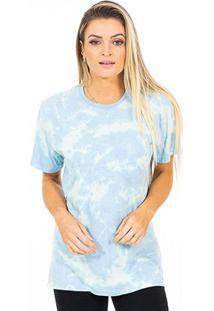 Camiseta Energia Natural Tie Dye - Unissex-Azul