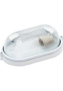 Luminária Tartaruga Branca 24Cm Em Alumínio Fc4M Biancoluce
