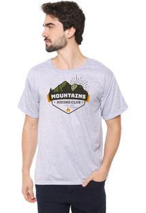 Camiseta Masculina Eco Canyon Mountains Cinza