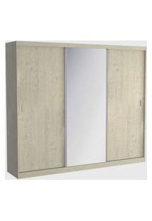 Guarda Roupa 03 Portas De Correr C/ 1 Espelho 1905E1 Marfim Areia M Foscarini Off-White
