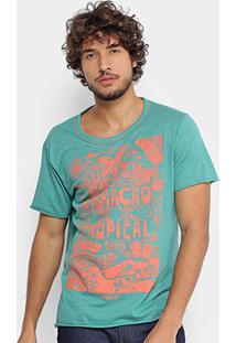 Camiseta Coca-Cola Tropical Masculina - Masculino-Verde