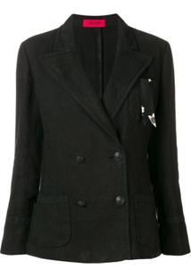 The Gigi Blazer Com Abotoamento Duplo 'The Gigi Sandratskd601 Nero Apicreated' - Preto