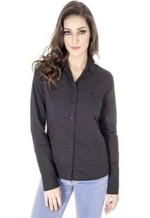 Camisa Básica Calvin Klein - Feminino-Preto