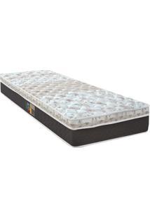 Colchão Sleep Class Pocket Híbrido Viúva- Cinza & Marromcastor