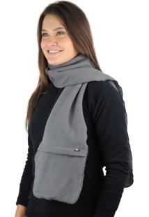 Cachecol Termico Fiero Thermo Fleece Cinza