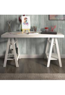 Mesa Escrivaninha Art Branca - Artany