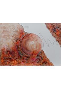 Quadro Artesanal Com Textura Abstrato Ii Colorido 70X100 Uniart