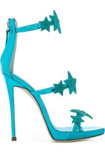 Giuseppe Zanotti Design Sandália De Couro - Azul