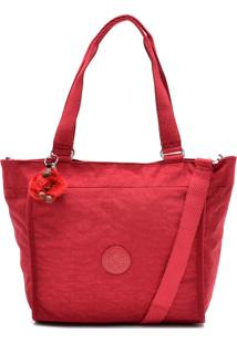Bolsa Kipling Tote New Shopper S Metallic Vermelha