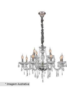 Lustre Glass- Incolor & Prateado- 64Xã˜74Cm- Bivohevvy