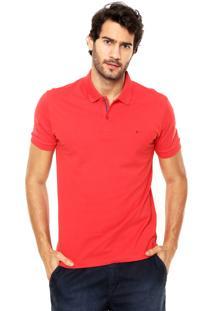 Camisa Polo Aramis Manga Curta Slim Vermelha