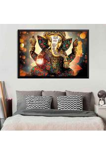 Quadro Love Decor Com Moldura Lord Ganesha Preto Médio