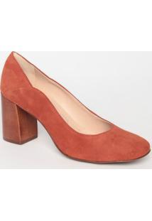 Sapato Tradicional Em Couro Acamurã§Ado- Marrom- Saltloucos E Santos