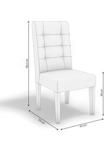 Conjunto Sala De Jantar Mesa Tampo Mdf/Vidro E 6 Cadeiras Romã Kappesberg Marrom Walnut/Bege