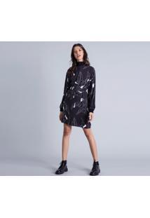Vestido Gola Alta Zíper Estampa Square - Lez A Lez
