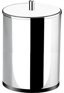 Lixeira Aço Inox Com Tampa 7.8 Litros Redonda 3030203 Brinox