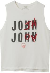 Regata John John Logo Feminina (Off White, Gg)