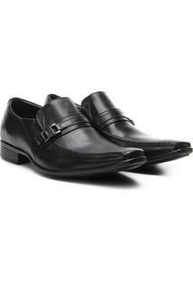 Sapato Social Couro Walkabout Triunfo - Masculino-Preto