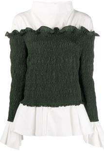 Loewe Blusa Com Sobreposição - Verde