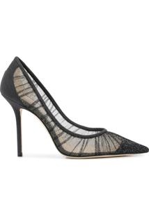 Jimmy Choo Scarpin Love Com Salto 100Mm - Preto