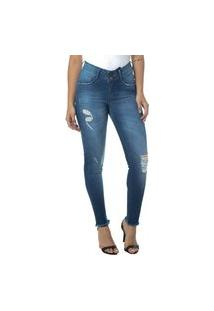 Calça Jeans Cigarrete Linda Z Lipo Z 206621320 Azul