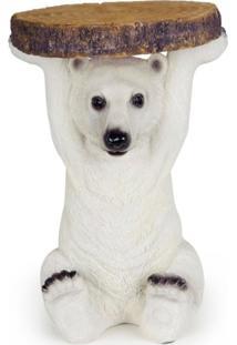 Mesa Urso Polar De Resina - Mesa De Resina - Incolor - Dafiti