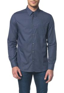 Camisa Regular Geneva Xadrez Exclusivo - Marinho - 1