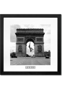 Quadro Paris Arco Kapos Preto 33X33Cm