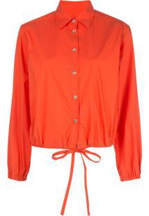 Harvey Faircloth Drawstring-Waist Shirt - Laranja