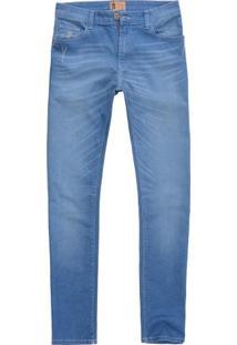 Calça Jeans Sl Fit Destroyed Wash Indigo Claro