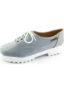 Tênis Tratorado Quality Shoes Feminino 005 Verniz Cinza 35