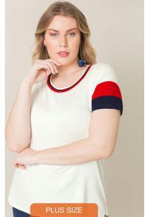 Blusa Com Mangas Branco