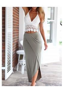 Vestido Casual Duas Peças Design De Renda