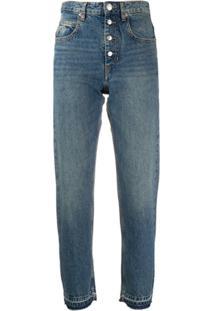 Isabel Marant Étoile Calça Jeans Reta Cintura Alta - Azul