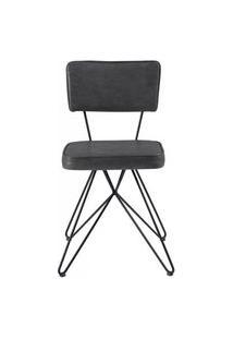 Cadeira Pop Retro Courissimo Preto Base Estrela Preta 53Cm - 61251 Preto